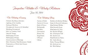 Sample Of Wedding Program Wedding Reception Program Sample Diy Wedding U2022 4842
