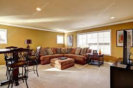 Luxury Family Room With Comfortable Sofa  Stock Photo  Irianaw - Comfortable family room furniture