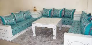 merveilleux housse salon marocain moderne d coration meubles with