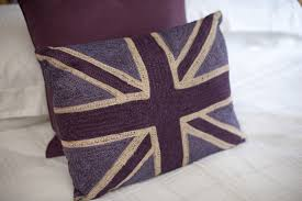 Blue Union Jack Cushion United Kingdom Freeimageslive