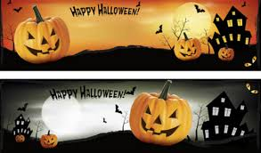 halloween pennant banner happy halloween banners royalty free stock photos image 21599588
