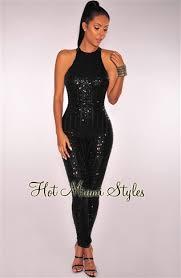 black sequin jumpsuit black sequins open back jumpsuit