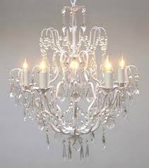 Shabby Chic White Chandelier Shabby Chic Chandeliers Amazon Com