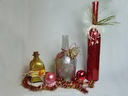 manualidades herme diy botella decorada para navidad