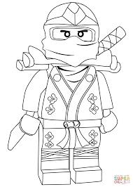 ninjago lloyd green ninja zx coloring page free printable