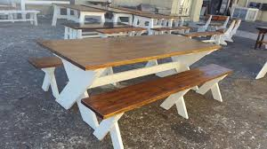 wooden table and bench garden benches outdoor benches outdoor furniture patio benches