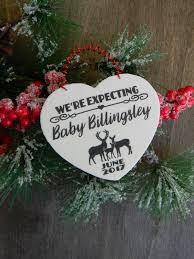 we u0027re expecting christmas ornament personalized pregnancy