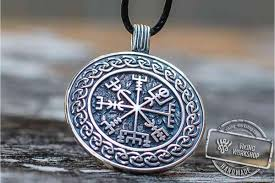 symbol with viking ornament pendant sterling silver pagan jewelry