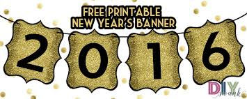 happy new year banner free printable diy swank