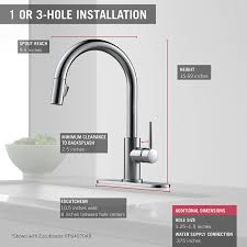 delta faucet 9178 ar dst installation sinks and faucets gallery delta faucet 9159 ar dst trinsic single handle pull down kitchen faucet with magnetic docking arctic stainless touch on kitchen sink faucets amazon com