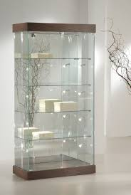 Wall Curio Cabinet With Glass Doors Decoration Living Room Corner Display Cabinet Mahogany Glass