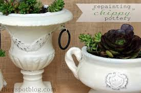 How To Shabby Chic by Using Vaseline And Spray Paint For A Shabby Chic Flower Pot Make