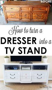 how to turn a dresser into a tv stand diy tv stands dresser
