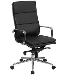 Leather Office Chair Btod Modern High Back Leather Office Chair Chrome Base