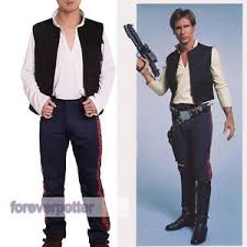 a new hope han solo costume vest shirt pants star wars cosplay