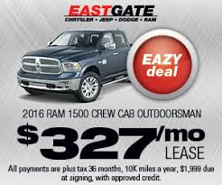 lease deals on dodge ram 1500 lease offers jeep dealer indianapolis in eastgate chrysler