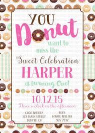 donut birthday invitation baby katiedid designs