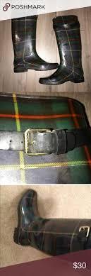 womens rubber boots size 9 ralph rossalyn womens tartan plaid rubber