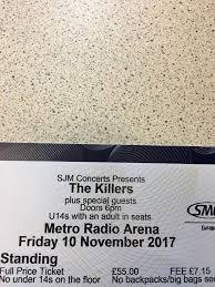 the killers metro radio arena newcastle 10 11 17 in