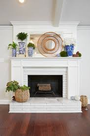 how to paint brick bricks wood fireplace and brick fireplace