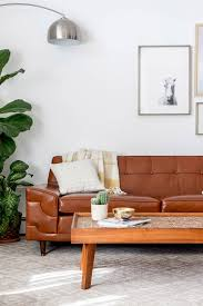 Century Leather Sofa Before U0026 After Mid Century Tufted Leather Couch Dream Green Diy