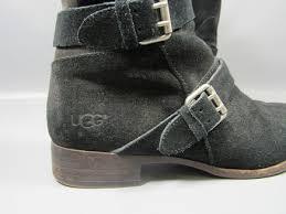 s grey ankle ugg boots ugg australia cydnee black suede sheep skin leather