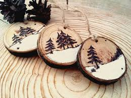wooden christmas ornaments christmas tree decor christmas toys rustic christmas decor