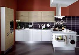 Modern Ideas Painted Tile Floor by White Modern Ideas Brown Color Wooden Cabinets Chalk Paint Kitchen