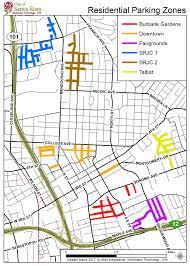 Map Of Burbank Ca Residential Permit Parking Program Santa Rosa Ca