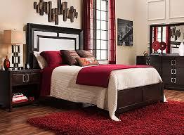 cadence 4 pc platform look bedroom set merlot