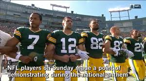 how teams protested on u0027monday night football u0027 and in every nfl