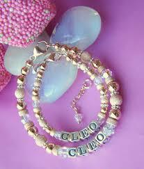 Name Bracelets Gold Mother Daughter Rose Gold Filled Stardust Birthstone Name