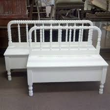 Bench From Headboard Handmade Spool Headboard Bench With Storage By Playing On The