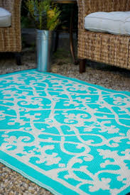 Affordable Outdoor Rugs Venice Turquoise Indoor Outdoor Rug