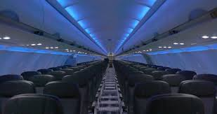 Interior Blue Jetblue A320 Cabin Restyling