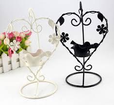 bougeoir mariage fer coeur oiseaux chandelier bougeoir bougeoir mariage décoration