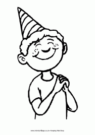 coloring pages happy boy birthday colouring pages