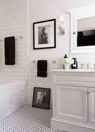 Black And White Bathroom Tile Designs Michelle Leblanc Owner Of Shop Mille Spaces Pinterest White