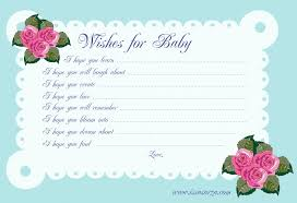 wishes for baby cards ba shower wishes for card ba showers ideas baby wishes cards