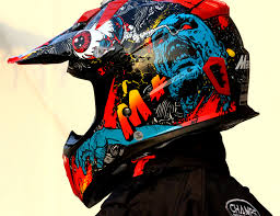monster motocross helmets m red frankenstein monster 316 atv motocross motorcycle ktm