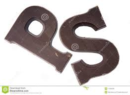 chocolate letter p and s stock photo 11356590 megapixl