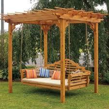 pergola swing a amp l western red cedar pergola swing bed set porch swings pergola