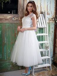 a line tea length dress wedding dress tbdress com