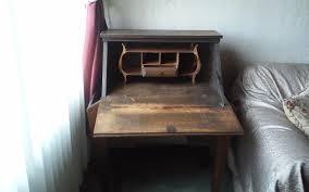 Folding Secretary Desk by Early 19th Century Antique Secretary Side Pocket Fold Out Desk