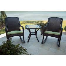 Outdoor Rocking Chair Cushion Sets Orleans 3 Piece Rocking Chair Set With Cushions Orleans5pcrkr