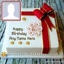 birthday cakes for create happy birthday cake with name and photo