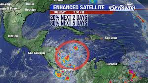 Caribbean Weather Map by Invest 90l Likely To Become Otto In The Caribbean Will Meander