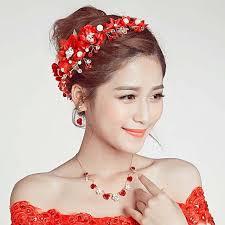 wedding headdress flower plum korean wedding headdress handmade