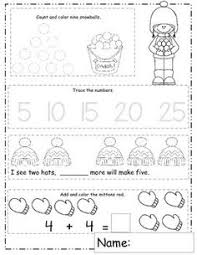 january math worksheets winter themed daily math january