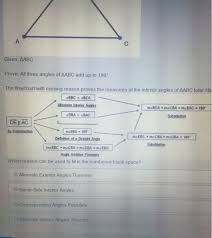 Same Side Interior Definition Triangle Abc Is Shown Below Given Aabc Prove Al Chegg Com